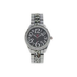 Betsey Johnson Cheetah Link Watch