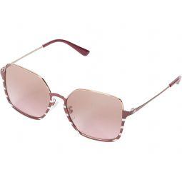 Tory Burch 56 mm TY6076 Rectangle Metal Sunglasses