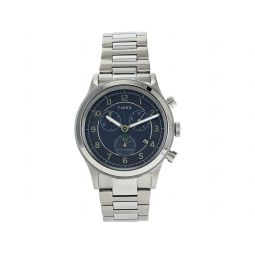 Timex 42 mm Waterbury Traditional Chronograph Stainless Steel Case