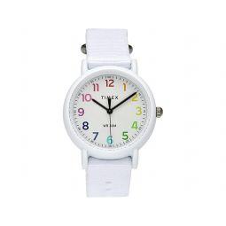 Timex Weekender 34mm Rainbow Dial Fabric Strap Watch