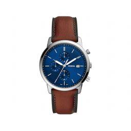 Minimalist Chrono Chronograph Leather Watch - FS5850