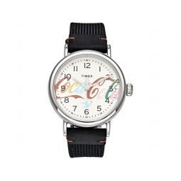 40 mm Timex Standard X Coca-Cola Unity Collection Leather Strap Watch