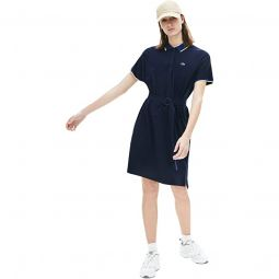 Dolman Sleeve Semi Fancy Pique Polo Dress