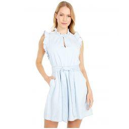 Kate Spade New York Denim Ruffle Dress