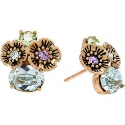 COACH Garden Party Cluster Earrings