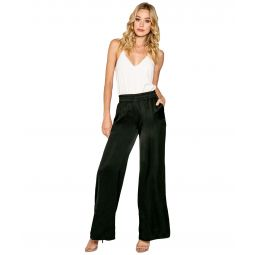 High-Waisted Pull-On Wide Leg Pants