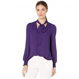 Georgette Tie-Neck Top