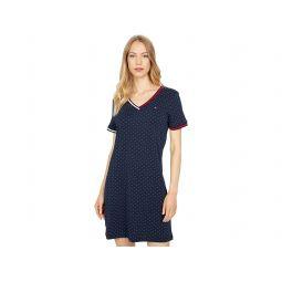 Tommy Hilfiger Micro Dot V-Neck Dress