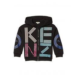Logo Hoodie Zip-Up Sweatshirt (Little Kids)