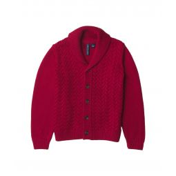 Cable Shawl Cardigan Pullover (Toddler/Little Kids/Big Kids)
