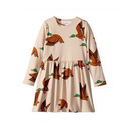 Ducks All Over Print Long Sleeve Dress (Infant/Toddler/Little Kids/Big Kids)