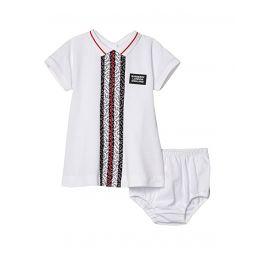 Violet Monogram Stripe Dress (Infant)