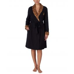 Short Shawl Collar So Soft Lined Robe