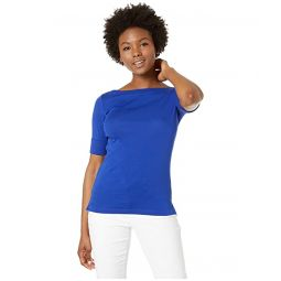 Petite Cotton Boat Neck T-Shirt