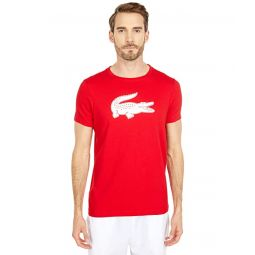 Lacoste Short Sleeve Solid Color Crocodile Logo Tee