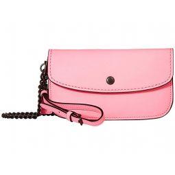 Glovetan Leather Clutch w/ Chain Strap