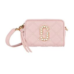 Marc Jacobs The Softshot 17 Quilted with Pearls Crossbody