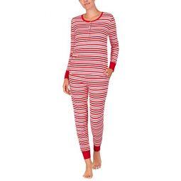 Kate Spade New York Brushed Jersey Jogger Long Pajama Set