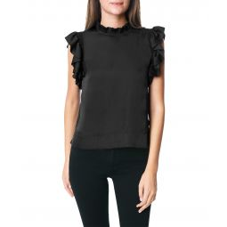 Shirred Sleeve Shell Blouse