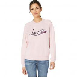Long Sleeve Lacoste Graphic Sweatshirt