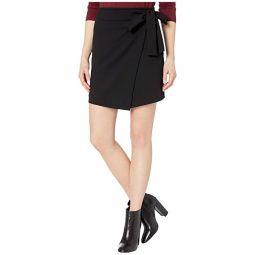 MICHAEL Michael Kors Tie Bow Wrap Miniskirt