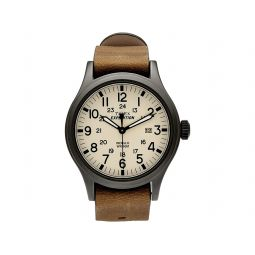 Timex Expedition Scout 40mm Leather Strap Watch