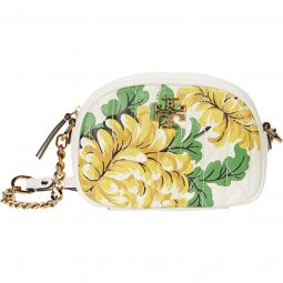 Kira Chevron Quilted Floral Camera Bag