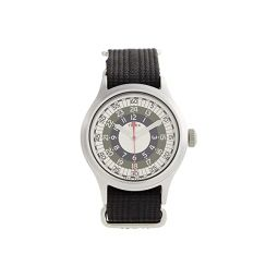 Timex 40 mm Timex x Todd Snyder MOD Inspired Silver Case Black Fabric Strap Watch