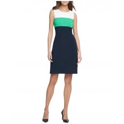 Pique Scuba Color Block Dress