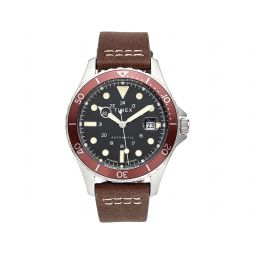 41 mm Navi XL Automatic Stainless Steel Brown Leather Strap