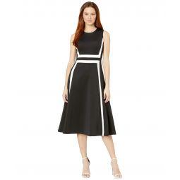 A-Line Color Block Dress