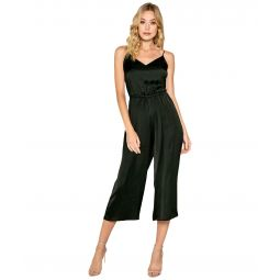 Tie Back Cropped Length Jumpsuit with Adjustable Strap