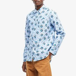MARNI Long Sleeve Floral Button Down