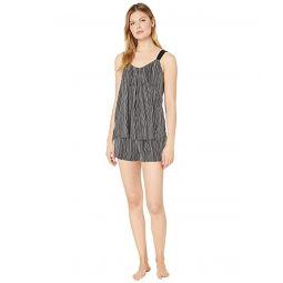 Donna Karan Modal Spandex Jersey Tank & Boxer Pajama Set