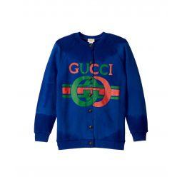 Gucci Kids GG JG Long Sleeve Cardigan (Little Kids/Big Kids)