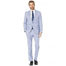 Nick Graham Blue Windowpane Suit