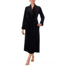 Velvet Long Shawl Collar Robe