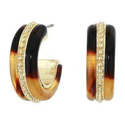 LAUREN Ralph Lauren Pierced Inlay Hoop Earrings