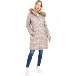 Quilted Long Puffer Hooded