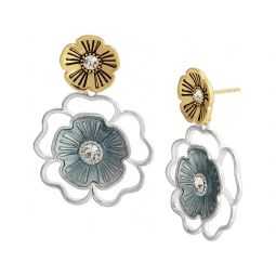 Organic Tearose Double Drop Earrings