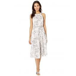 Tommy Hilfiger Diana Foral Chiffon Midi Dress