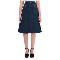 Kate Spade New York Spade Zip Denim Skirt