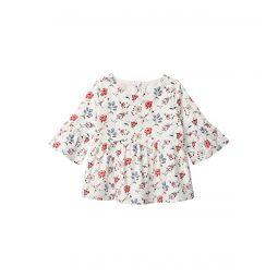 Janie and Jack Ruffle Sleeve Floral Top (Toddleru002FLittle Kidsu002FBig Kids)