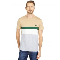 Lacoste Short Sleeve Color-Block Tee