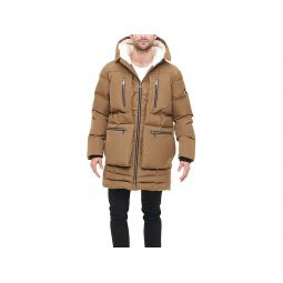 Heavyweight Quilted Sherpa Hooded Parka