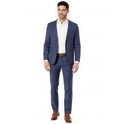 Cole Haan Slim Fit Plaid Suit