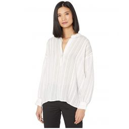 Vince Drapey Stripe Pullover Shirt