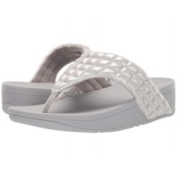 Lulu Padded Shimmy Suede Toe Thong