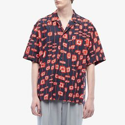 MARNI Abstract Rectangle Short Sleeve Button Down