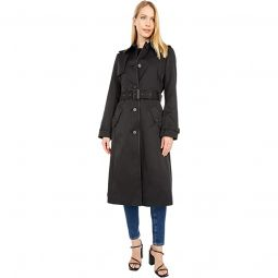 Maxi Trench F Leather Trim